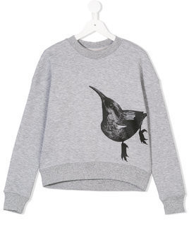 Ioana Ciolacu Kids bird print sweatshirt - Grey