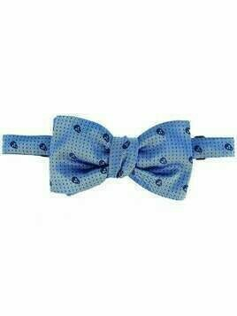 Alexander McQueen dotted skull bow tie - Blue