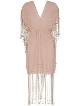 Caravana Imix fringe cotton mini dress - Pink