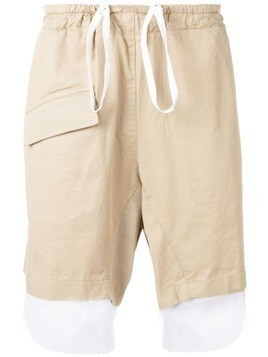 Corelate drawstring contrast shorts - Neutrals