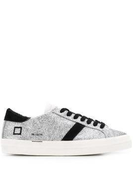 D.A.T.E. metallic lace-up sneakers - SILVER