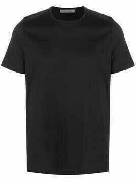 Corneliani round neck short-sleeved T-shirt - Black