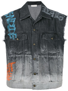Faith Connexion sleeveless denim jacket - Black