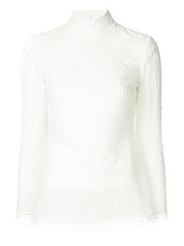 Huishan Zhang high neck blouse - White