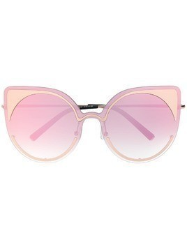 Matthew Williamson contrast oversized sunglasses - Gold