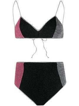 Oseree Lumiere high-rise bikini set - Black