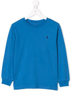Ralph Lauren Kids logo embroidered sweatshirt - Blue