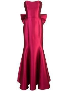 Marchesa Notte strapless evening dress - Pink