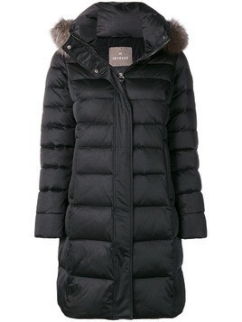 Hetregò fox fur trimmed hood padded jacket - Black