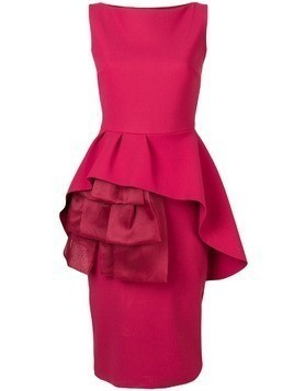Le Petite Robe Di Chiara Boni fitted ruffled front dress - Pink