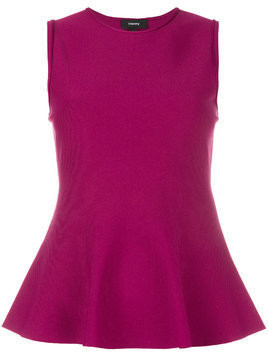 Theory peplum sleeveless top - Pink & Purple