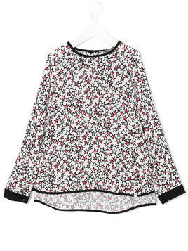 Miss Grant Kids Star print blouse - White