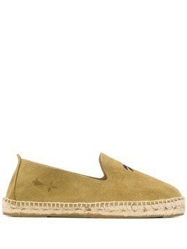 Manebi palm tree embroidered espadrilless - Green