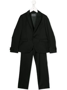 Young Versace fitted two-piece suit - Black