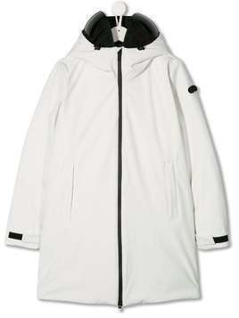 AI Riders on the Storm TEEN lens integrated padded parka - White