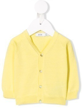 Knot V-neck cardigan - Yellow