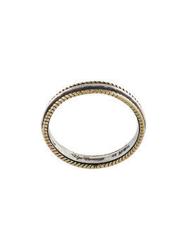 Ugo Cacciatori braid detail ring - Metallic