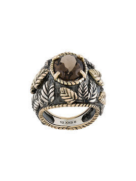Ugo Cacciatori smokey quartz ring - Metallic
