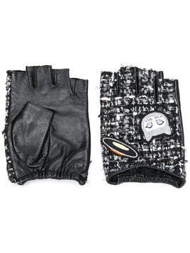Karl Lagerfeld Karl Space Tweed gloves - Black