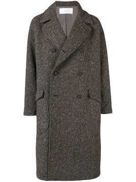 Julien David classic double-breasted coat - Brown