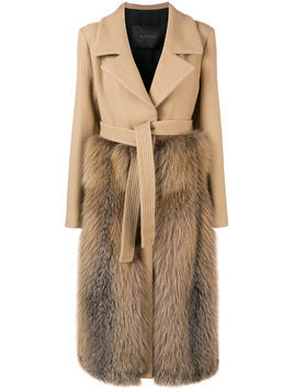Blancha belted double-breasted coat - Neutrals