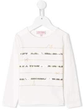 Lili Gaufrette sequin embellished T-shirt - White