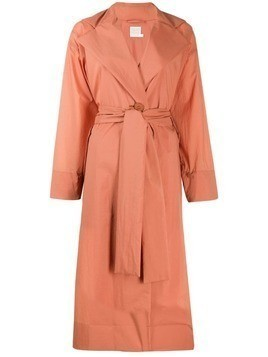 Pleats Please Issey Miyake belted trench coat - ORANGE