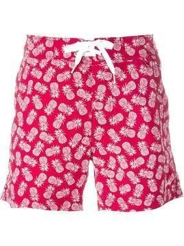 Woolrich pineapple print swim shorts - Red