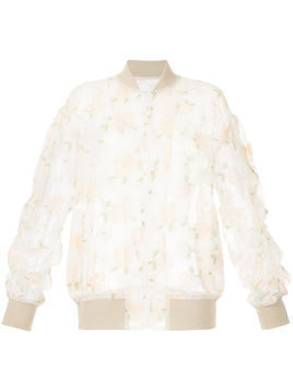 08Sircus sheer embroidered bomber jacket - White