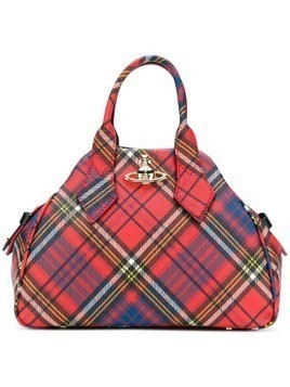 Vivienne Westwood Derby tartan medium tote - Red