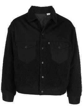 Levi's: Made & Crafted LMC Sherpa trucker jacket - Black