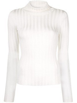Georgia Alice Lola roll neck top - White