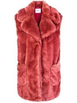 Dondup faux fur vest - Pink & Purple