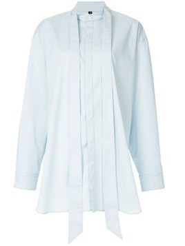 Blindness tie detail oversized shirt - Blue