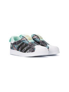 Adidas Kids Superstar slip-on zoo sneakers - Multicolour