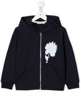 Marni Kids zip-up hoodie - Blue