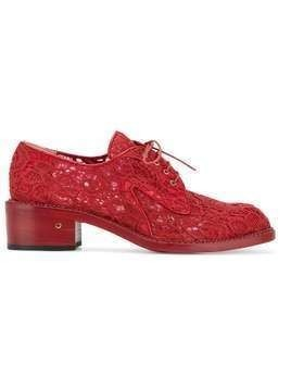 Laurence Dacade 'Jeanne' floral lace brogues - Red