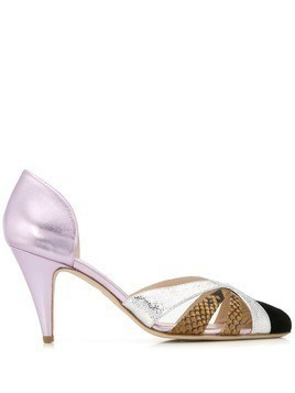 Gia Couture cut out pumps - PURPLE