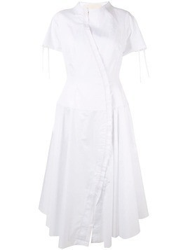 Aganovich flared shirt dress - White