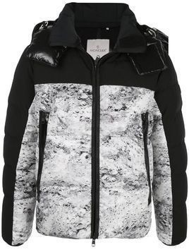 Moncler panelled puffer jacket - Black