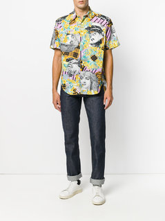 Moschino Vintage flowers and women printed shirt - Multicolour