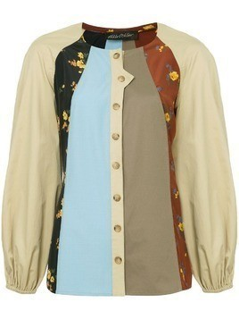 Anna October patchwork shirt - Multicolour