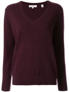 Vince v-neck jumper - Brown