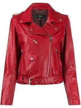 Arma leather biker jacket - Red