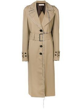Marni contrast stitching trench coat - Brown