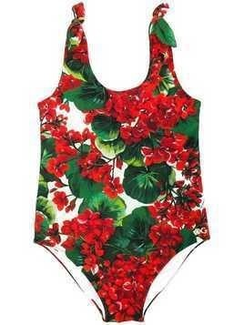 Dolce & Gabbana Kids floral swimsuit - Red