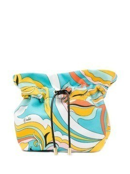 Emilio Pucci Yellow and Turquoise Badea Beauty Case