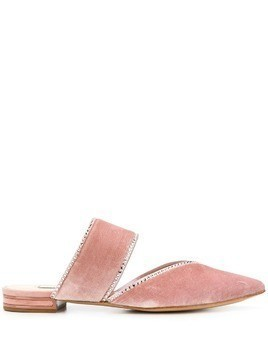 Casadei textured stud detail slippers - Pink