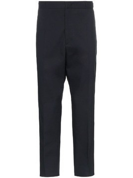 Jil Sander Spencer cropped cotton trousers - Blue