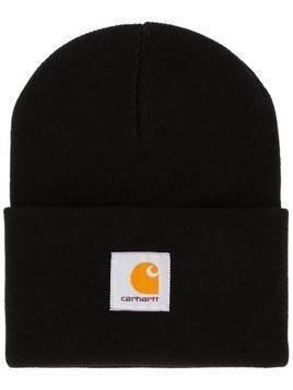 Carhartt WIP logo patch beanie - Black